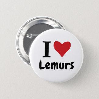 I LiebeLemurs Runder Button 5,7 Cm