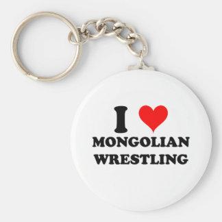 I Liebemongolian-Wrestling Schlüsselanhänger