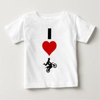 I LiebeMotocross (vertikal) Baby T-shirt