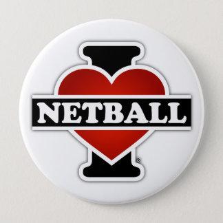 I LiebeNetball Runder Button 10,2 Cm