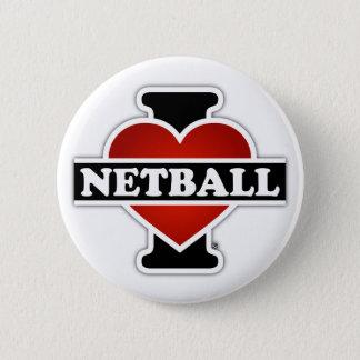 I LiebeNetball Runder Button 5,7 Cm