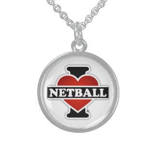 I LiebeNetball Sterling Silberkette