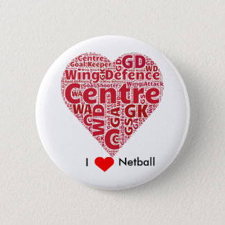 I Liebenetball-Wort-Kunst-Entwurf Runder Button 5,1 Cm