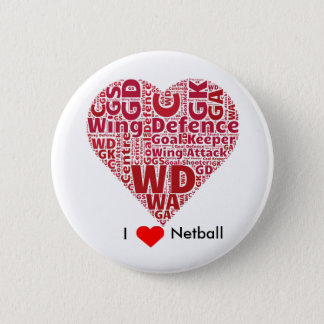 I Liebenetball-Wort-Kunst-Entwurf Runder Button 5,7 Cm