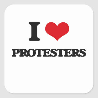 I LiebeProtesters Quadrat-Aufkleber