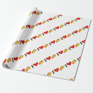 I LiebeTacos für Taco-Liebhaber Geschenkpapier