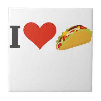 I LiebeTacos für Taco-Liebhaber Keramikfliese