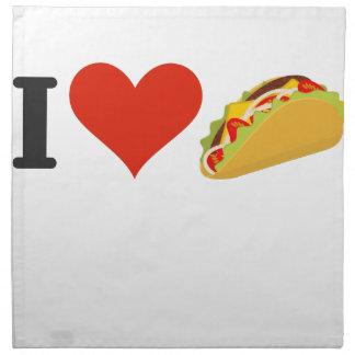 I LiebeTacos für Taco-Liebhaber Serviette