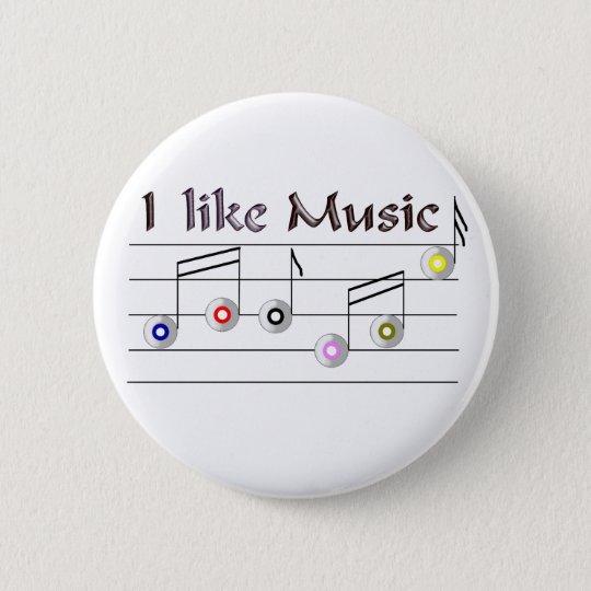 I like Music Runder Button 5,7 Cm