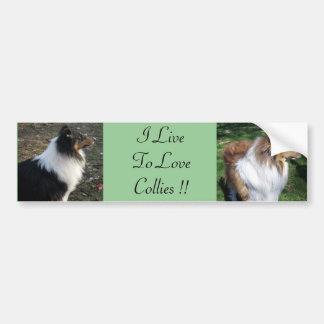 I LiveTo LoveCollies!! Autoaufkleber