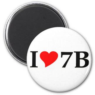 I love 7B lang Kühlschrankmagnete