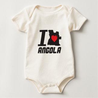 i love angola baby strampler