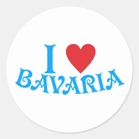 I love Bavaria Runder Aufkleber