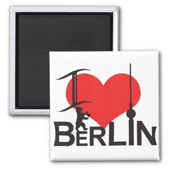 I Love Berlin Magnet Quadratischer Magnet