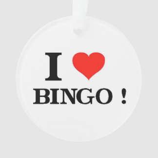I_Love Bingo Ornament