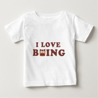 I Love bOWLing little comic owl Baby T-shirt