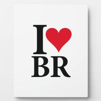 I Love Brasilien BR Edition Fotoplatte