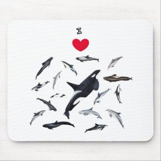 I love dolphins - Herr die Delphine Mousepad