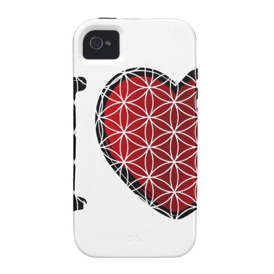 i love flower of life iPhone 4 cover