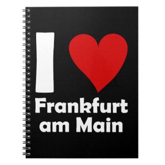 I love Frankfurt Main Spiral Notizblock