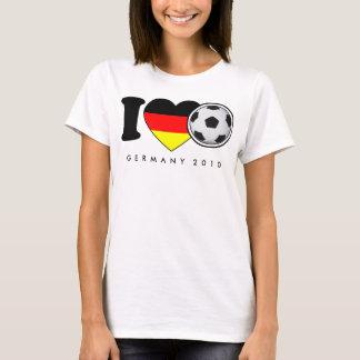 """I Love Fußball"" Damen-Shirt Deutschland Germany T-Shirt"