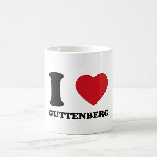 I LOVE GUTTENBERG KAFFEETASSE