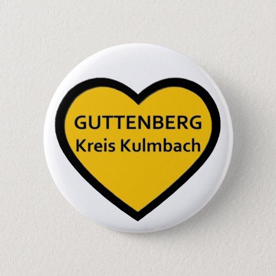 I Love Guttenberg Kreis Kulmbach Runder Button 5,1 Cm