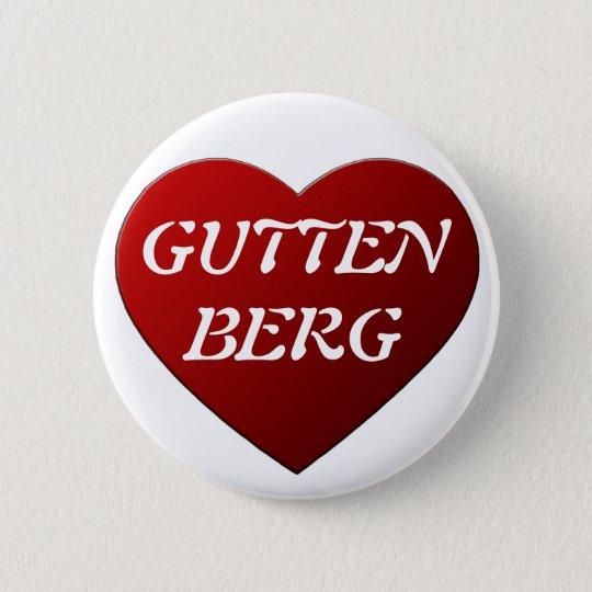 I LOVE GUTTENBERG RUNDER BUTTON 5,1 CM