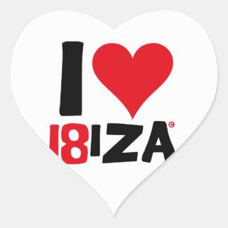 I love Ibiza 18IZA Spezielle Ausgabe 2018 Herz-Aufkleber