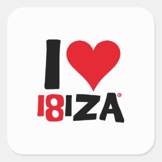 I love Ibiza 18IZA Spezielle Ausgabe 2018 Quadratischer Aufkleber