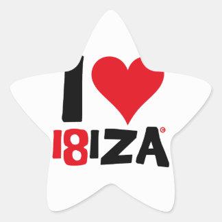 I love Ibiza 18IZA Spezielle Ausgabe 2018 Stern-Aufkleber