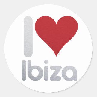 I LOVE IBIZA RUNDER AUFKLEBER