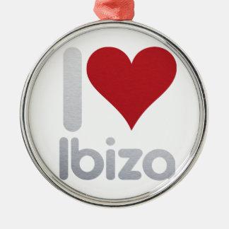 I LOVE IBIZA SILBERNES ORNAMENT