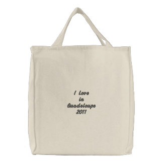 I Love inGuadeloupe 2011 Bestickte Einkaufstaschen