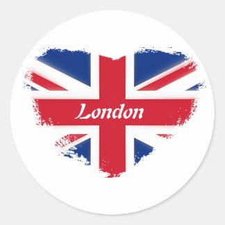 I love London Runder Aufkleber