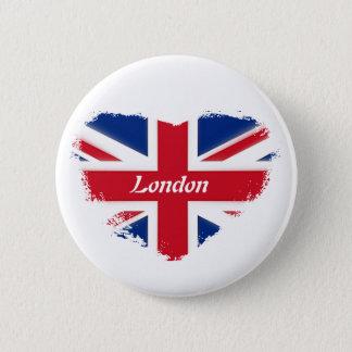 I love London Runder Button 5,7 Cm