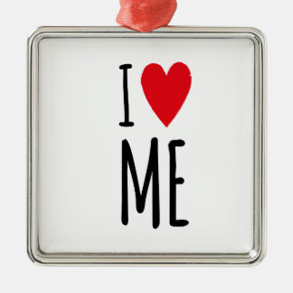 I LOVE ME SILBERNES ORNAMENT