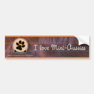 I love Mini-Aussies | Miniature American Shepherd Autoaufkleber