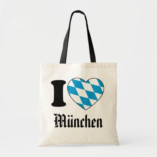 I Love München, Bavaria, Germany Tragetasche