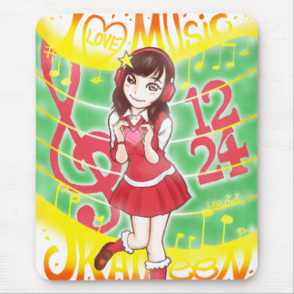 I LOVE MUSIC JK AILEEN 1224 MAUSPAD