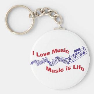 I love music Music i life Schlüsselanhänger