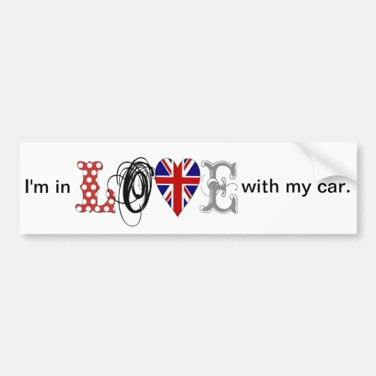 I LOVE my car-Sticker Autoaufkleber