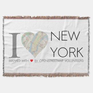 I love New York. OpenStreetMap Decke