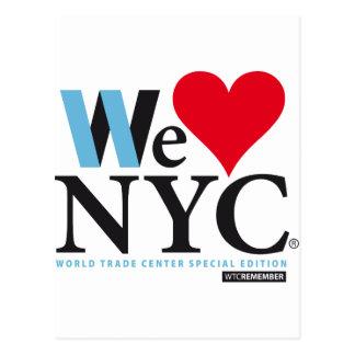 I LOVE NYC, WE LOVE NYC, C YOU? POSTKARTE