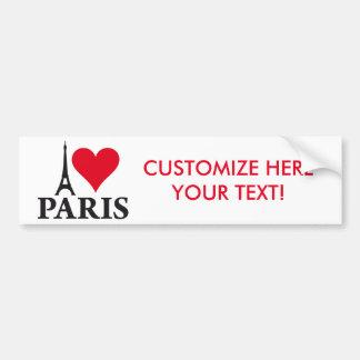 I Love Paris Heart France Edition Autoaufkleber