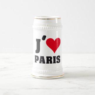 I Love Paris Heart France Edition Bierglas