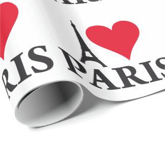I Love Paris Heart France Edition Geschenkpapier