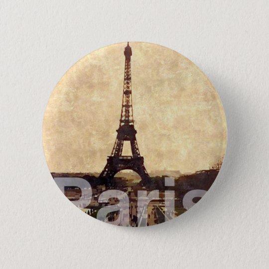 I Love Paris Runder Button 5,7 Cm