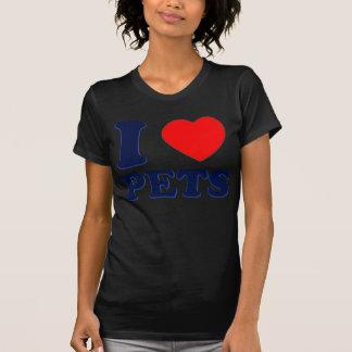I LOVE PETS BLUE RED HEART 3D T-Shirt