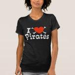I love pirates tshirt